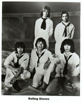 Vintage Promotional Photo Rolling Stone Band Members Wearing Navy Outfits