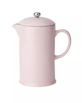 Le Creuset Stoneware Cafetiere with Metal Coffee Press 1L Chiffon Pink (New)