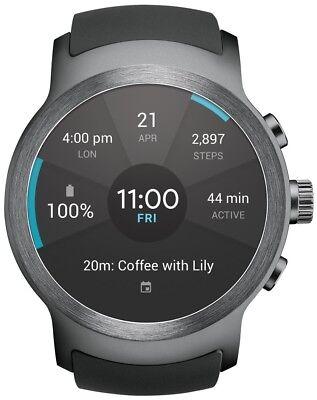 LG Watch SPORT Wi-Fi Unlocked GSM Smartwatch P-OLED Display Titan / Silver W280A