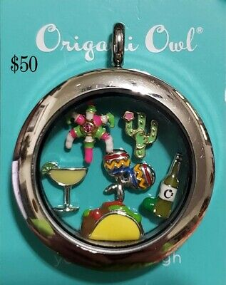 Authentic Origami Owl Twist Locket Mexico Taco Pinata Margarita - Taco Pinata