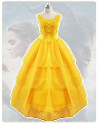 - Women Teen Beauty and the Beast Ball Gown Dress  Princess Belle Dress UP ZG9