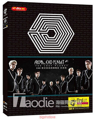 NEW EXO 1st Japan TOUR The Lost Planet MV DVD9  Box Set AAA QUALITY