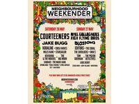 2 x Saturday tickets Neighbourhood Warrington