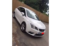 REDUCED Seat Ibiza SE Toca 2013, 1.4l engine, 1 lady owner, parking sensors + extras, white.