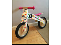 Kiddimoto Kurve kids Girls Balance Bike