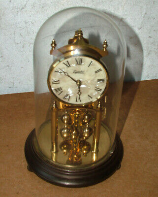 Vintage KUNDO Glass Domed German Made ANNIVERSARY CLOCK Untested