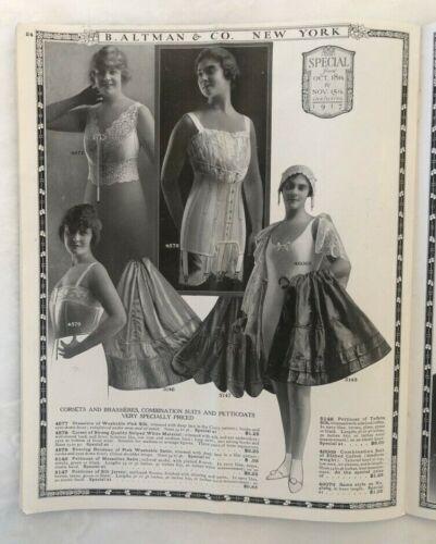 1917 FASHION & LINGERIE B Altman & Co Clothing CATALOG New York NYC