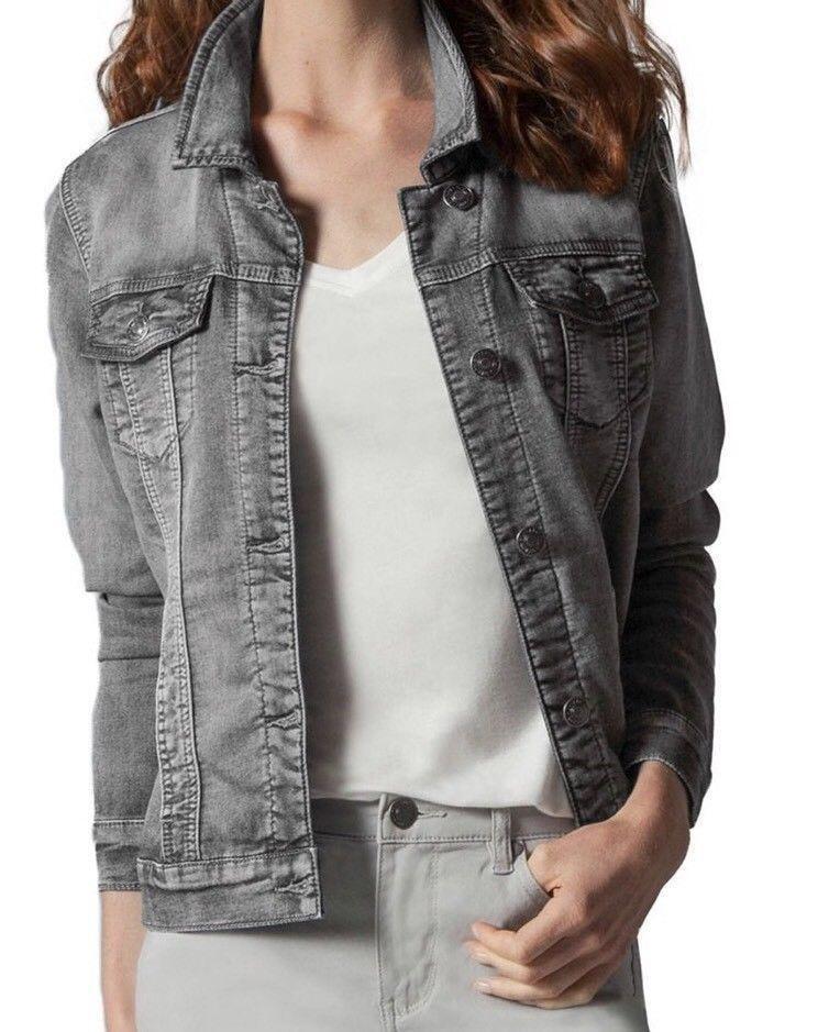 f941b9591b2e Buffalo David Bitton Ladies  Stretch Knit Denim Jacket Gray Size ...