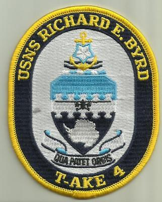 USNS RICHARD E BYRD T-AKE 4 U.S.NAVY PATCH CARGO SHIP SAILOR SOLDIER OCEAN BOAT