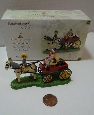 Dept 56 Seasons Bay The Garden Cart 53327 Carriage Horse Ride