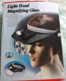 Light Head Magnifier Glass