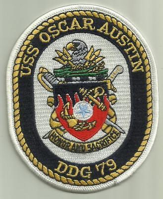 USS OSCAR AUSTIN DDG 79 U.S.NAVY PATCH DESTROYER WARSHIP SAILOR MISSILES USA