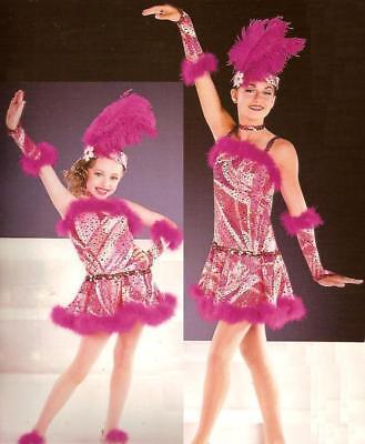 JELLY LAST JAM Dance Costume Flapper Showgirl Tap Dress Adult Small New](Flapper Dress Dance Costume)