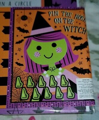 Halloween Classroom Games (**New** Halloween Pin the Nose on the Witch Game Party Supply Classroom Teacher)