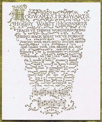 HARRY POTTER HOGWARDS MUSIC SHEET Screen Used Movie Prop w/COA