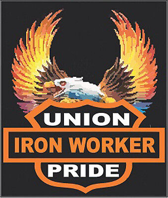 Ironworker Union Pride With Eagle Ciw-7
