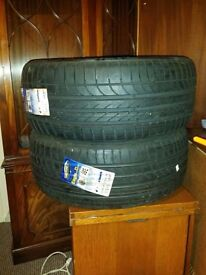 Pair of Goodyear Tyres