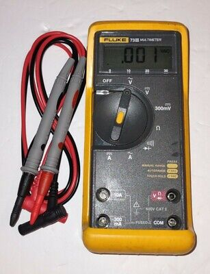 Fluke 73 Iii Multimeter With Test Leads Fast Free Shipping With Priority Mail.