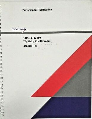 Tektronix Tds 420 460 Oscilloscopes Performance Verification Pn 070-8721-00