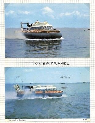 BC286 1970s GB *Hovertravel* Hovercraft Service Postcards{2} IOW Southsea Hants