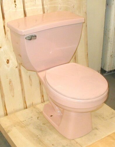 Gerber Light Pink Toilet, Vintage, Two-Piece Style with Original Matching Seat