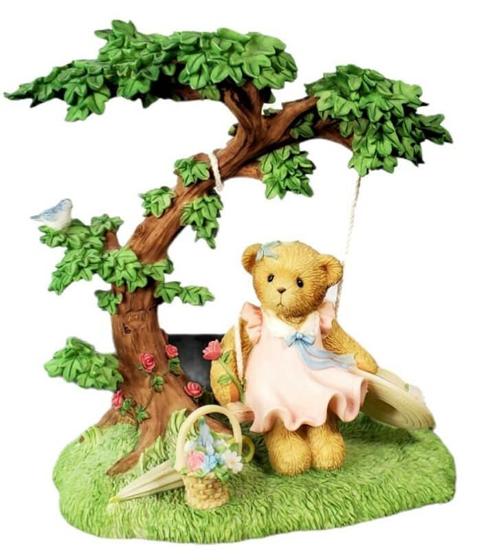 Cherished Teddies: Julia, Spring, Swing. CT0042 Enesco. Membears Only