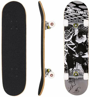 "31"" X 8"" Complete Skateboard, 9 Layer Maple Wood Long Board Deck Profession"