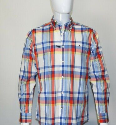Mens Tommy Hilfiger Button Up Multi-Color Casual Work Shirt Size Small S