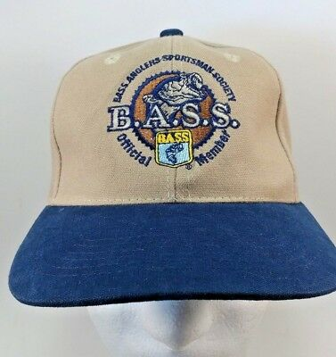 BASS Anglers Sportsman Society Official Member Strap back Hat Baseball Cap