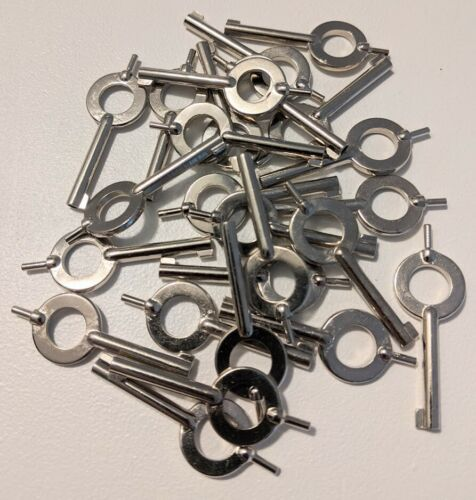 Universal Handcuff Keys - S+W, Peerless, Hiatt, etc...  25pc Lot - NEW!!