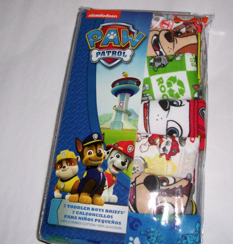 Paw Patrol Toddler Boys 2T 3T Underwear 7 Cotton Briefs Nickelodeon NIP