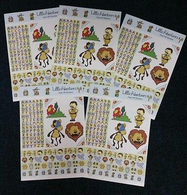 5 - 3D Little Adventure Childrens Stickers Lion Monkey & Safari Themed
