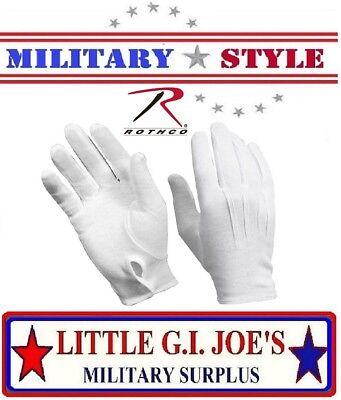 White Military Cotton Dress Gloves Band & Parade Gloves, Waiter Gloves 4410 - White Gloves