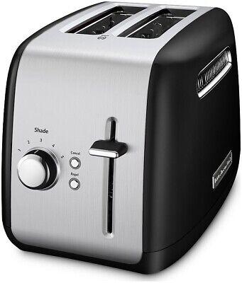 KitchenAid Refurbished 2-Slice Toaster with Manual Lift Lever | Onyx Black