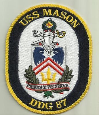 USS MASON DDG 87 U.S.NAVY PATCH DESTROYER WARSHIP SAILOR SOLDIER MISSILES USA
