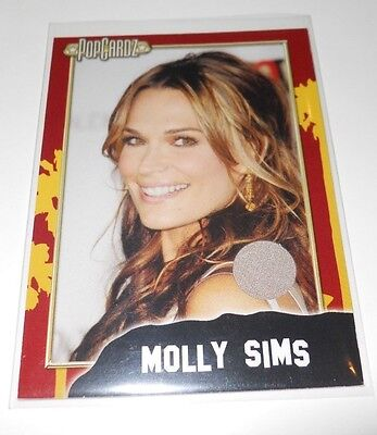 PopCardz Costume Trading Card #12 Actor Molly Sims (V.3) (Sims Costume)