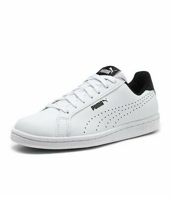 Men's Puma Smash Perf Classic White Or Black Leather Trainers Sizes UK 8-12 New.