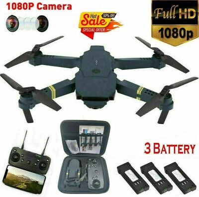 Drone X Pro WIFI FPV HD 1080P Camera with 3Battery Foldable Selfie RC Quadcopter