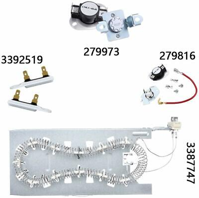 Replacement Dryer Heating Element Kits for Whirlpool GEW9200LW1 GEQ9800PW2