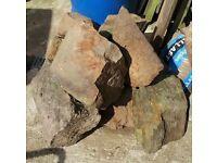 Rockery stones various sizes