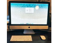 "Apple iMac 27"" desktop, Intel core i5, 8GB RAM, with Apple blutooth keyboard and magic mouse"