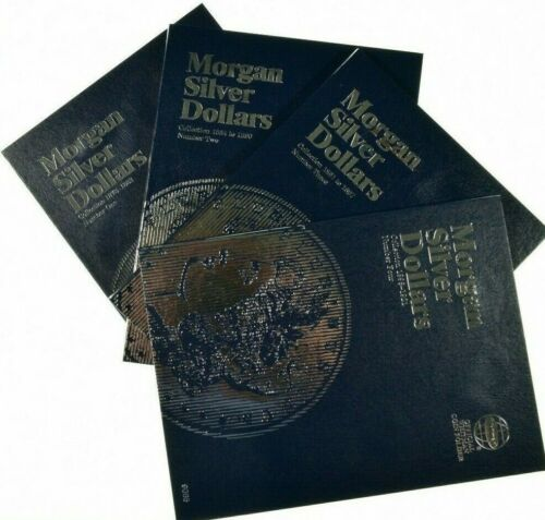 Whitman Coin Folders Morgan Silver Dollars Set 1, 2, 3, and 4 Years 1878 - 1921