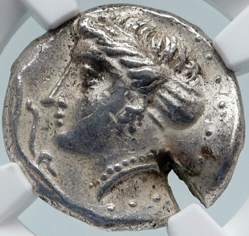 Sinope In Paphlagonia Ancient Silver Greek Coin Nymph Eagle Dolphin Ngc I85407