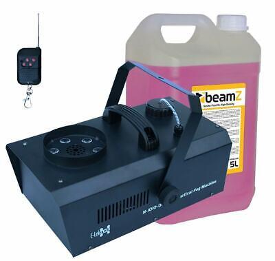 E-Lektron NV-1010-DMX Nebelmaschine vertikal 1000W RGB LED inkl. 5L Nebelfluid