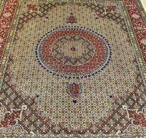 RARE SUPERFINE SILKINLAID HAND WOVEN PERSIAN BIRJAND RUG CARPET Rose Bay Eastern Suburbs Preview