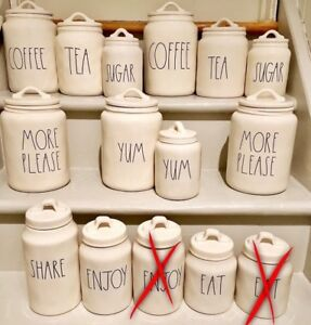 ⭐⭐⭐Brand new Rae Dunn Canisters⭐⭐⭐PRICED SEPARATELY