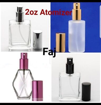 Refillable Purfume Spray Glass Atomizer Empty Bottle Flat/Dimond/Frosted - Frosted Glass Spray