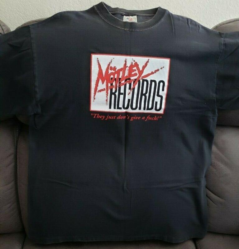 Motley Crue Vintage Motley Records T-shirt XL , ORIGINAL