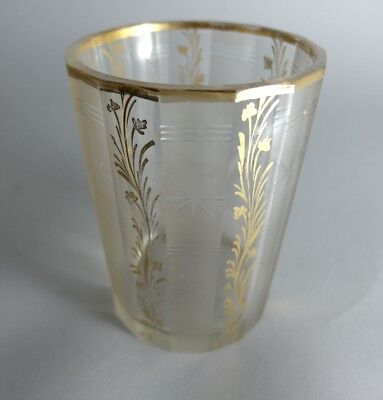 Mug, Frosted Glass, Hand Engraved, Silesia, Ca.1830 - 1840 AL74