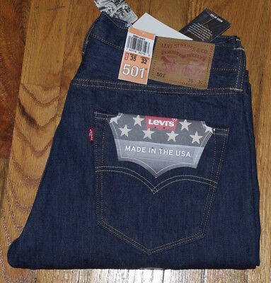 LEVI'S MADE IN USA 501 Primary FIT MEN'S JEANS Cone Mills Fair-skinned Oak Denim 35X32